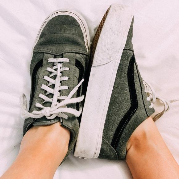 Platform Vans Sneakers Snakeskin | Poshmark